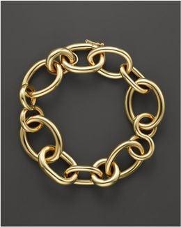 18k Yellow Gold Alternating Shape Link Bracelet