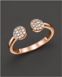Diamond Lauren Joy Double Ring In 14k Rose Gold