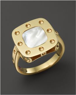 18k Yellow Gold Pois Moi Mother-of-pearl Ring