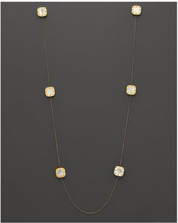 18k Yellow Gold And Mother-of-pearl Pois Moi Station Necklace, 39""