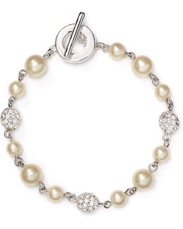Faux-pearl Fireball Illusion Bracelet
