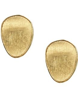 18k Yellow Gold Lunaria Stud Earrings