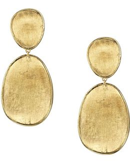18k Yellow Gold Lunaria Two Tiered Drop Earrings