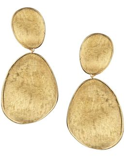 18k Yellow Gold Lunaria Two Drop Earrings