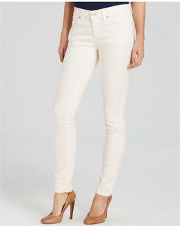 Slim Ankle Jeans In Ecru