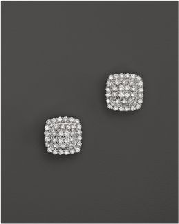 Emily Sarah Earrings In White Gold With Diamonds