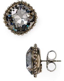 Round Crystal Stud Earrings