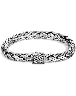 Men's Classic Chain Sterling Silver Medium Woven Bracelet