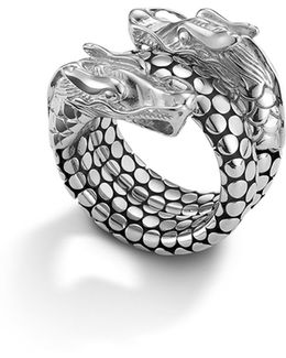 Naga Sterling Silver Coil Ring
