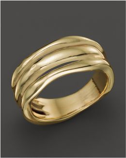 18k Gold Glamazon Triple Band Squiggle Ring