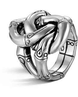 Women's Sterling Silver Bamboo Knot Ring