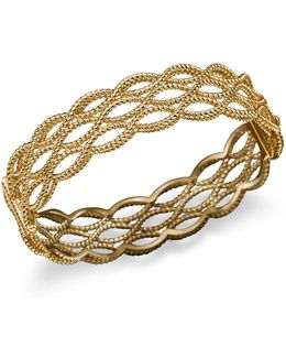 18k Yellow Gold Triple Row Twisted Bangle
