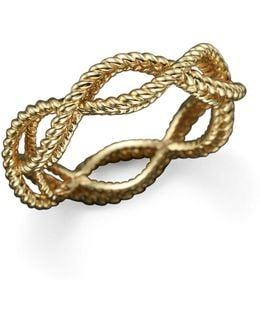 18k Yellow Gold Single Row Twisted Ring