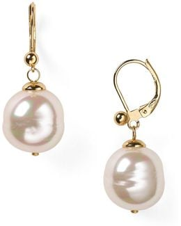 Baroque Simulated Pearl Drop Earrings