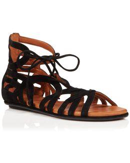 Break My Heart Nubuck Lace Up Sandals