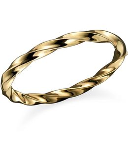 18k Yellow Gold Wave Bangle