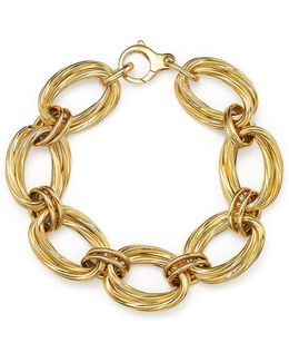 18k Yellow Gold Oval Double Link Bracelet
