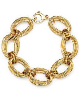 18k Yellow Gold Oval Double Link Bracelet