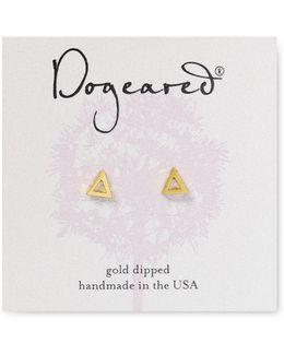 Open Triangle Stud Earrings
