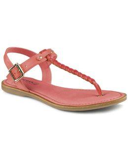 Flat T-strap Sandals - Virginia