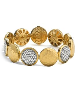 Palu 18k Gold Diamond Pavé Five Disc Station Bracelet