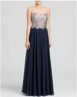 Gown - Embellished Bustier Tie-back
