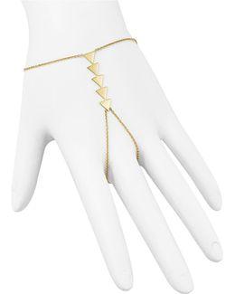 14k Yellow Gold Five Triangle Hand Chain