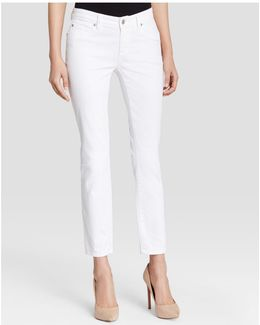 System Skinny Ankle Jeans In White