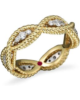 18k Yellow Gold New Barocco Diamond Ring