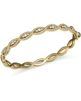 18k Yellow Gold New Barocco Diamond Bangle