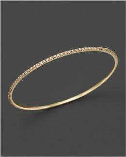 Diamond Bangle In 14k Yellow Gold