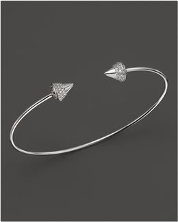 Diamond Studded Bracelet In 14k White Gold