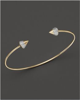 Diamond Studded Bracelet In 14k Yellow Gold