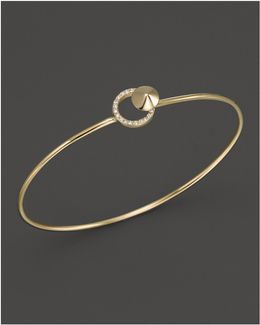 Diamond Circle Bangle In 14k Yellow Gold