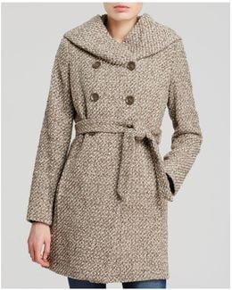 City Tweed Belted Coat