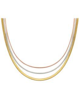 Rose & White Gold Goa Collar Necklace