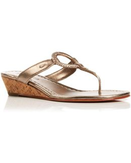 Thong Wedge Sandals - Matrix