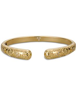 18k Yellow Gold Nomad Bella Cuff Bracelet With Diamonds