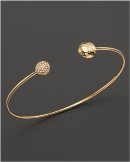 Diamond Double Circle Bracelet In 14k Yellow Gold