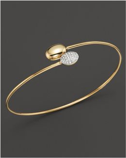 Diamond Double Oval Bracelet In 14k Yellow Gold