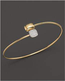 Diamond Square & Rectangle Bracelet In 14k Yellow Gold