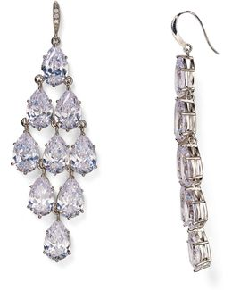 Pavé Kite Chandelier Earrings