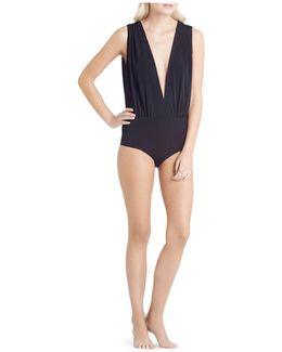 Sleeveless Plunge Neck Bodysuit