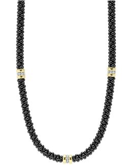 'black Caviar' Station Necklace