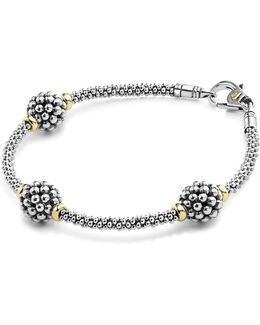 'signature Caviar' Diamond Rope Bracelet