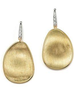 18k Yellow Gold And Diamond Lunaria Drop Earrings