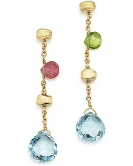 18k Yellow Gold Paradise Drop Earrings