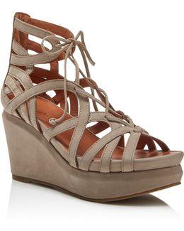Joy Lace Up Wedge Sandals