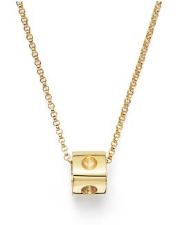 Pois Moi Diamond & 18k Yellow Gold Small Pendant Necklace
