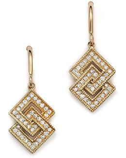 Isabelle Brooke Diamond Earrings In 14k Yellow Gold